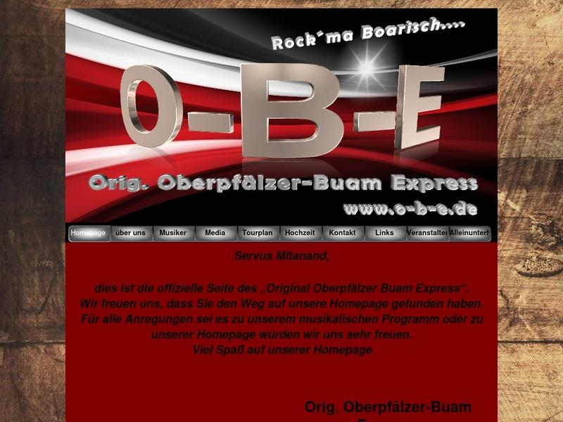 Screenshot von www.o-b-e.de